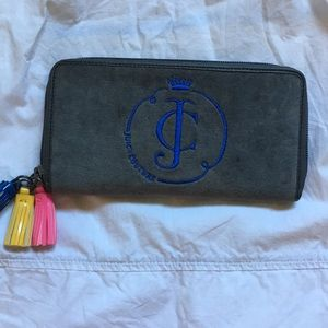 NEW Juicy Couture Gray velvet wallet